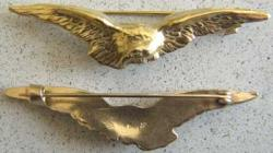 WWI French Eagle Wing Badge Sterling, Weingarten Gallery Item Number P-1479