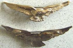 WWI French Pilot Eagle Pin Sterling, Weingarten Gallery Item Number P-1480