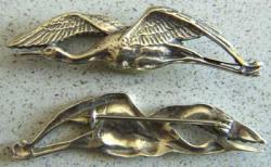 WWI French Pilots Wing Stork in Sterling, Weingarten Gallery Item Number P-1476