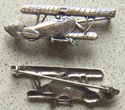 WWI French Nungesser Pilot Pin Sterling, Weingarten Gallery Item Number P-1533