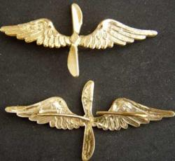 WWI French Badge Air Companies Sterling/Gold, Weingarten Gallery Item Number P-1717