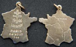 Liberation of Paris Charm, sterling with gold plate, Weingarten Gallery Item Number P-1964C