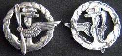 WWI French Navy Aircrew Wing Sterling, Weingarten Gallery Item Number P-1851