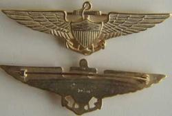 Navy Pilot Wing 1922 Sterling w Gold, Weingarten Gallery Item Number P-1215