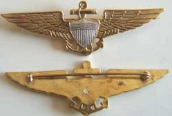 Coast Guard Pilot Wing 1922 Stlering w Gold, Weingarten Gallery Item Number P-1215CG