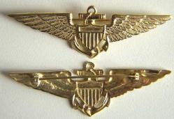 1926 Navy Pilots Wing Sterling w Gold, Weingarten Gallery Item Number P-1186