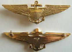 1930s Coast Guard Pilot Wings Sterling w Gold, Weingarten Gallery Item Number P-1226