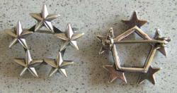5 Star Collar Insignia Sterling, Weingarten Gallery Item Number P-1198