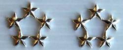 5 Star Navy Raincoat Insignia Sterling, Weingarten Gallery Item Number P-1199