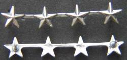 WWII 4 Star Collar Sterling (2), Weingarten Gallery Item Number P-1665