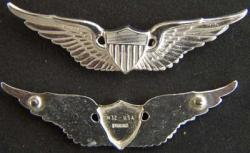 US Army Pilot Sterling Wings, Weingarten Gallery Item Number P-1729