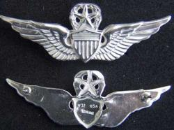 US Army Master Pilot Wing Sterling Silver, Weingarten Gallery Item Number P-1877