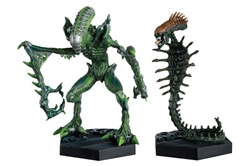 Aliens Retro Figure Collection #1 - Mantis and Snake 2-Piece Set - Cast in Metallic Resin  - Hand-Painted Figurine  - Approximately 5.5 Inches Tall