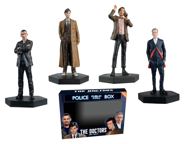 Doctor Who Regeneration 4-Piece Set - Doctors 9 10 11 and 12