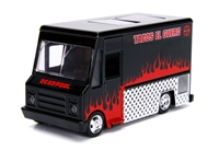 Deadpool Food Truck in Black - Hollywood Rides, between 1:32 and 1:43 scale  by Jada Toys SKU JDA30864