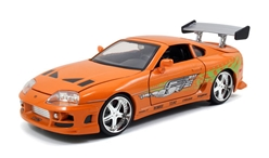 Brians Toyota Supra in Orange - The Fast and the Furious 2001 1:24 by Jada Toys SKU JDA97168