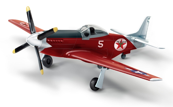 "P-51D Mustang ""Fuel for Victory"" Wings of Texaco 2018, Red Edition (1:44) - Preorder item, order now for future delivery , Round 2 Model Airplanes Item Number CP7490"