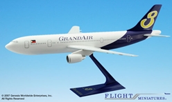 Grandair Philippines A300B4 (1:200), Flight Miniatures Snap-Fit Airliners Item Number AB-30000H-012