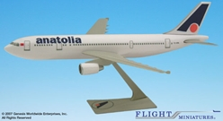 Air Anatolia Turkey A300B2 (1:200), Flight Miniatures Snap-Fit Airliners Item Number AB-30000H-018