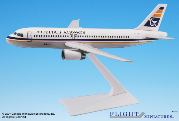 Cyprus Airways A320-200 (1:200), Flight Miniatures Snap-Fit Airliners Item Number AB-32020H-026