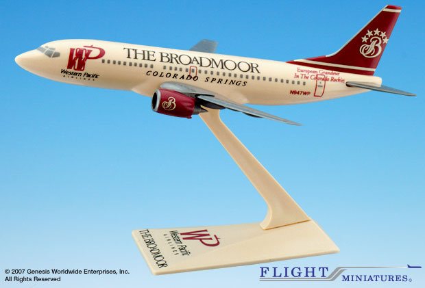 Western Pacific Broadmoor 737-300 (1:200), Flight Miniatures Snap-Fit Airliners Item Number BO-73730H-002