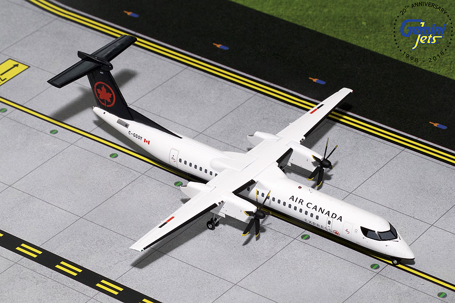 Air Canada DASH 8 Q-400 New Livery C-GGOY (1:200), GeminiJets 200 Diecast Airliners, Item Number G2ACA738