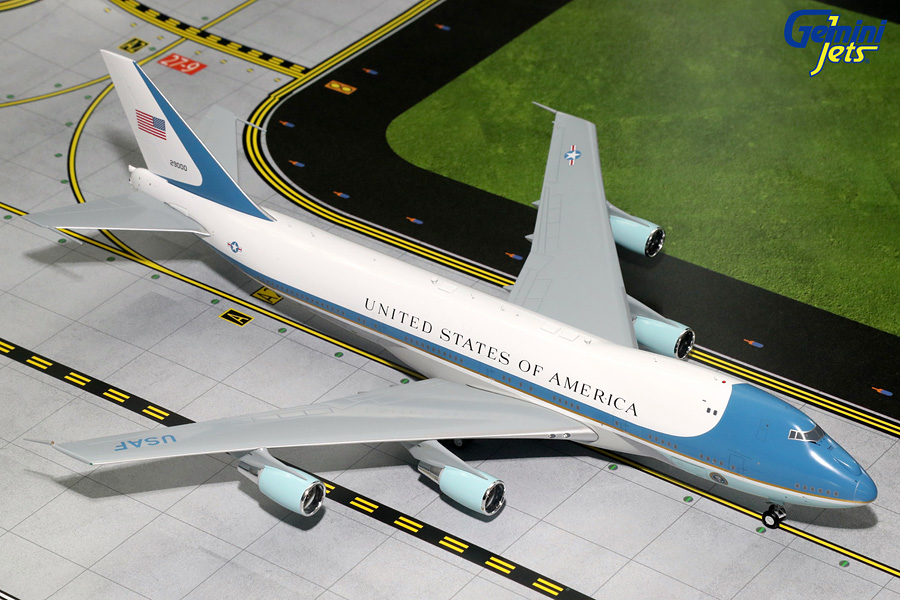 USAF Air Force One B747-200 29000 with Antennas (1:200), GeminiJets 200 Diecast Airliners, Item Number G2AFO624