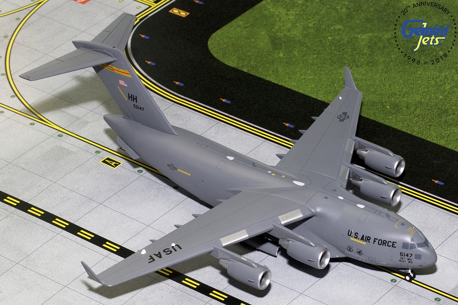 USAF Boeing C-17 Hawaii Air National Guard 05-5147 (1:200), GeminiJets 200 Diecast Airliners, G2AFO780