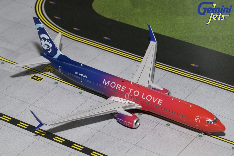 "Alaska Airlines B737-900(S) ""More to Love"" N493AS (1:200)"
