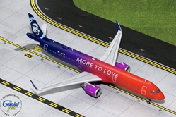 "Alaska Airlines A321neo ""More to Love"" N927VA (1:200), GeminiJets 200 Diecast Airliners, Item Number G2ASA739"