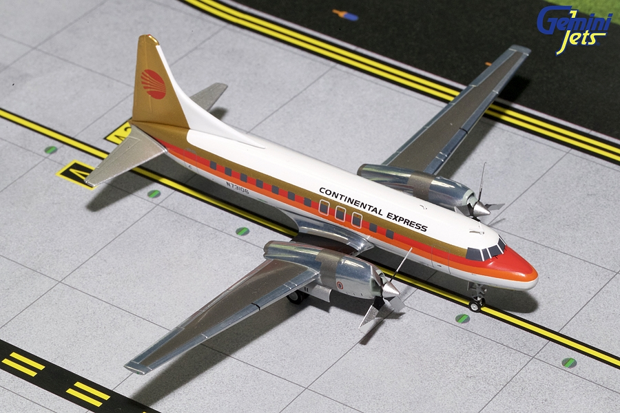 Continental Express CV-580 Red Meatball N73106 (1:200), GeminiJets 200 Diecast Airliners, Item Number G2COA291