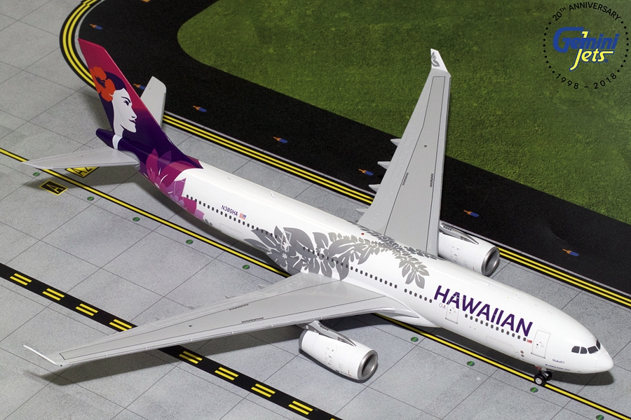 Hawaiian Airlines A330-200 New Livery N380HA (1:200)