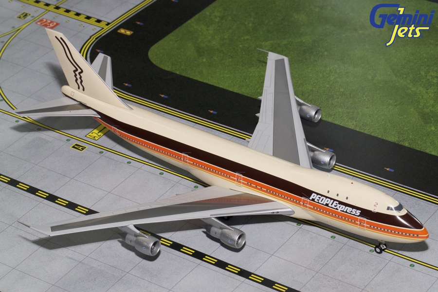People Express B747-100 N603PE  (1:200), GeminiJets 200 Diecast Airliners, Item Number G2PEX695