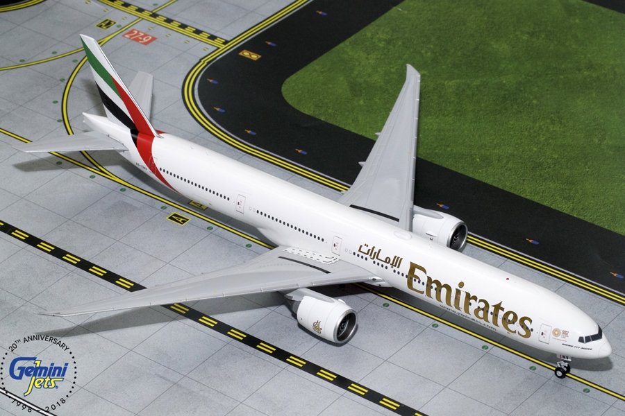 Emirates B777-300ER New Expo 2020 Livery A6-ENU (1:200), GeminiJets 200 Diecast Airliners, Item Number G2UAE771