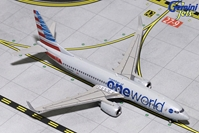 "American B737-800 wingles ""One World Livery"" N836NN (1:400) - Preorder item, order now for future delivery"