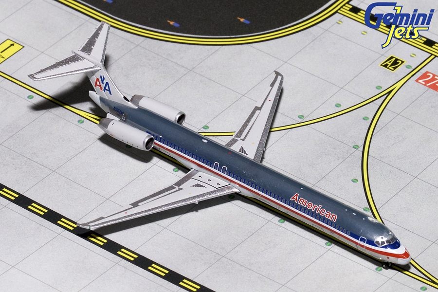 American MD-80 (Polished) N9621A (1:400) by GeminiJets 400 Diecast Airliners Item Number: GJAAL1794