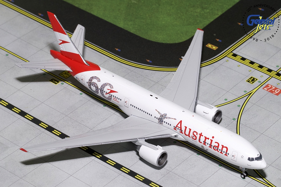 Austrian B777-200ER (60th Anniversary) OE-LPF (1:400) - Preorder item, order now for future delivery