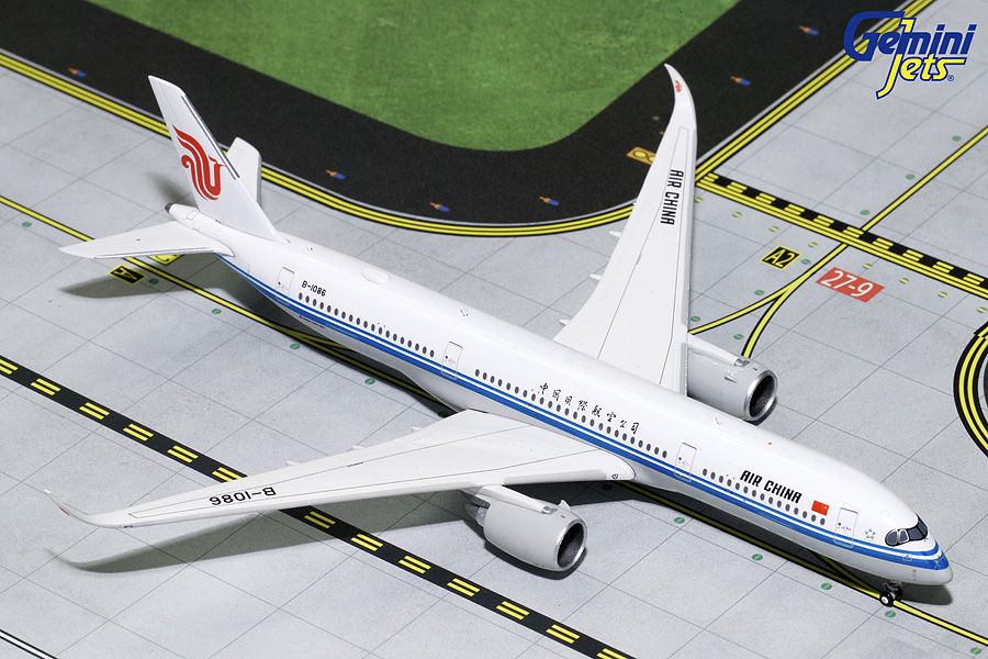 Air China A350-900 B-1086 (1:400), GeminiJets 400 Diecast Airliners Item Number GJCCA1748
