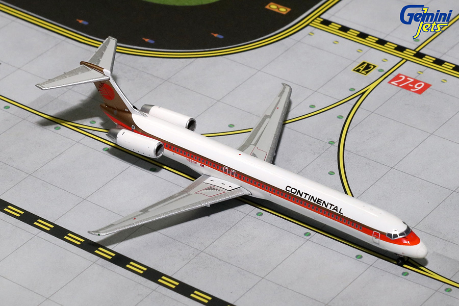 Continental Airlines MD-80 Red Meatball Livery N980IF (1:400)