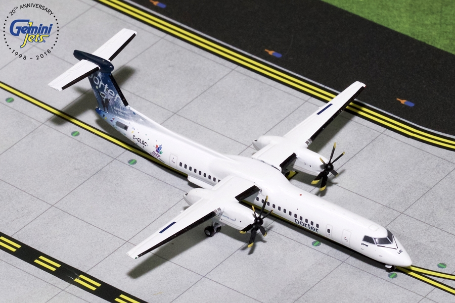 "Porter Airlines Dash 8-Q400 ""Celebrating Canada's 150th"" (1:400) - Preorder item, order now for future delivery, GeminiJets 400 Diecast Airliners Item Number GJPOE1519"