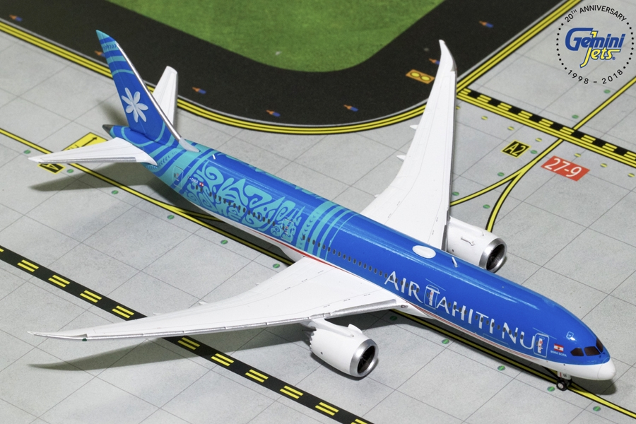 Air Tahiti Nui B787-9 New Livery F-ONUI (1:400) - Preorder item, order now for future delivery, GeminiJets 400 Diecast Airliners Item Number GJTHT1782