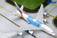 "Emirates A380 A6-EOC (""Expo 2020"" Blue Mobility Baubles) (1:400) by GeminiJets 400 Diecast Airliners Item Number: GJUAE1833"