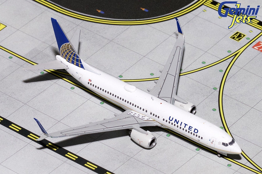 United B737-800(S) N14237 (1:400) by GeminiJets 400 Diecast Airliners Item Number: GJUAL1796