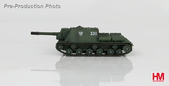 ISU-152 Tank Destroyer, Polish Peoples Army (LWP), 13th Self-Propelled Artillery Regiment, Warsaw 1945 (1:72), Hobby Master Diecast Military Armor Item Number HG7022