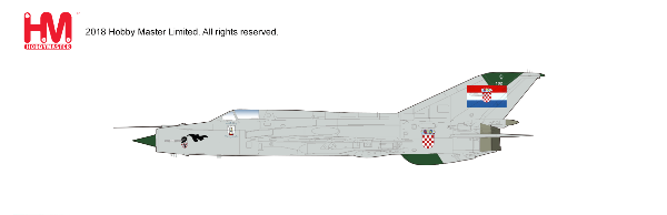 "MIG-21 BIS ""Fishbed"", 1st Fighter Squadron, Croatian Air Force, 1993 (1:72)"