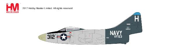 "F9F-5 Panther, VF-153, ""The Blue Tail Fly"" USS Princeton, 1953 (1:48)  , Hobby Master Diecast Airplanes Item Number HA7208"