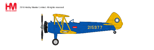 Stearman PT-17 Kaydet Chinese Air Force (1:48) - Preorder item, order now for future delivery, Hobby Master Diecast Airplanes Item Number HA8110