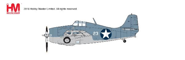 F4F-4 Wildcat ,White 23, flown by Lt. Cdr John Thach,  VF-3, USS Yorktown, 4-6 June 1942 1:48 - Preorder item, order now for future delivery, Hobby Master Diecast Airplanes Item Number HA8902