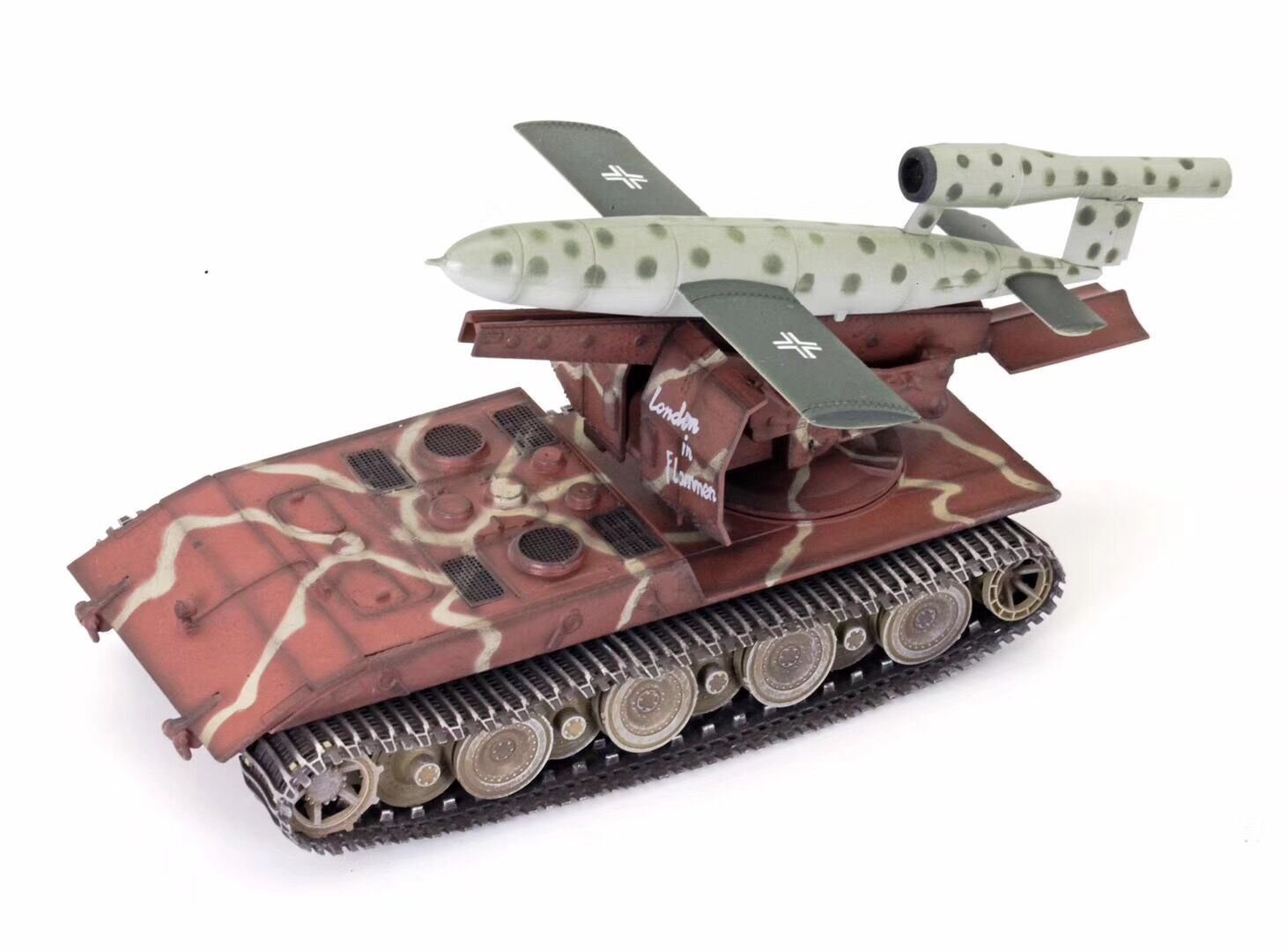 German WWII Waffentrager AUF E100 with V1 missile, 1946, Camouflage, ModelCollect Item Number AS72100