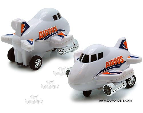 "Airbus Pullback Toy (5"", Assorted Colors.), Chubby Champs Item Number 88023"